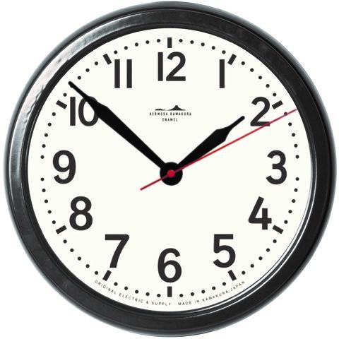 ハモサ鎌倉 琺瑯時計 HK HORO CLOCK